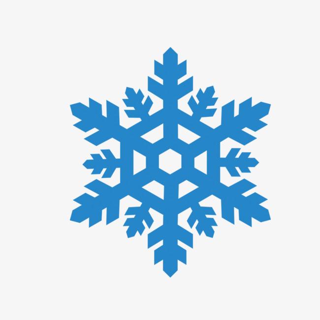 蓝色卡通雪花元素图片