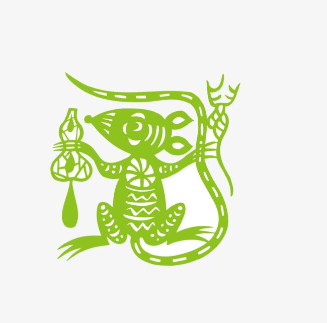 卡通手绘装饰十二生肖简笔画头像装饰老鼠图片