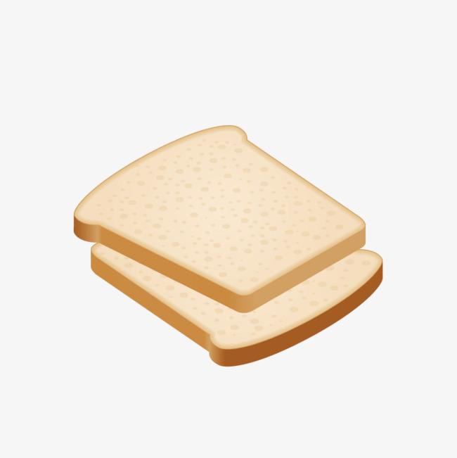 手绘卡通面包片png
