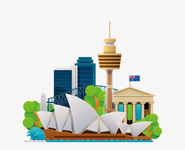 卡通悉尼歌剧院png图片