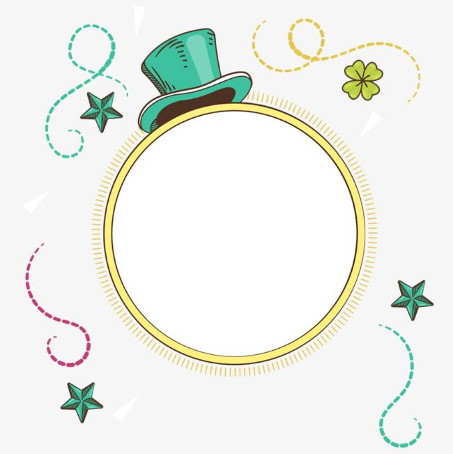 免抠卡通绿色帽子星星装饰png素材下载_高清图片png