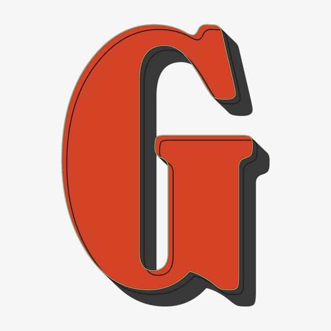 卡通手绘英文字母g