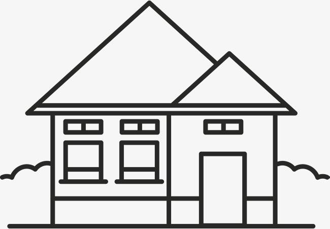 房子建筑创意手绘图png素材下载_高清图片png格式(:)图片