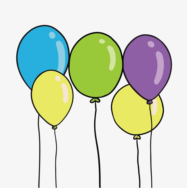 卡通手绘小清新插画装饰气球