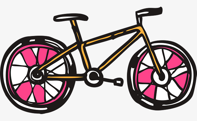 卡通手绘矢量自行车