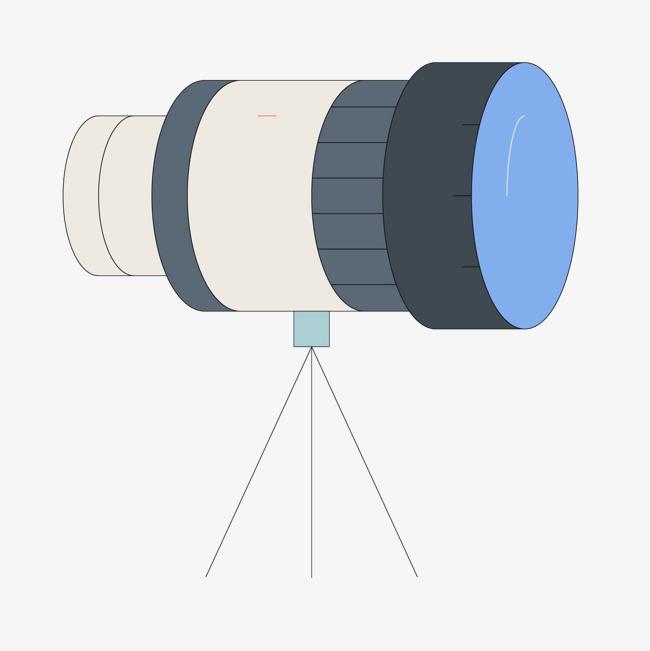 创意手绘卡通望远镜