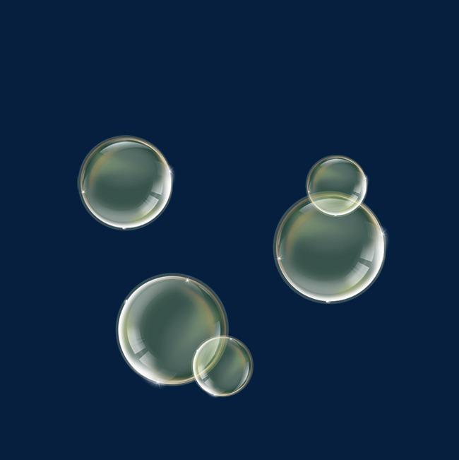 梦幻可爱的透明水泡泡免抠素材