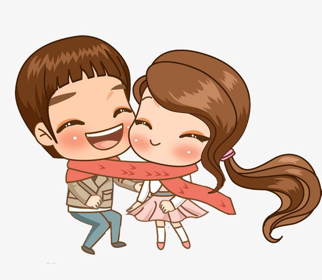 卡通高兴的情侣免抠图png素材下载_高清图片png格式图片