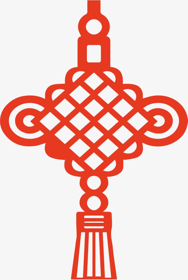 红色中国风手绘中国结边框