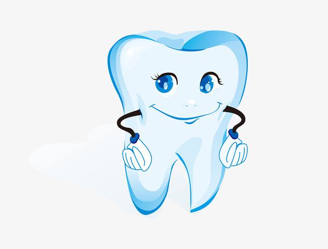 卡通可爱的牙齿简图图片