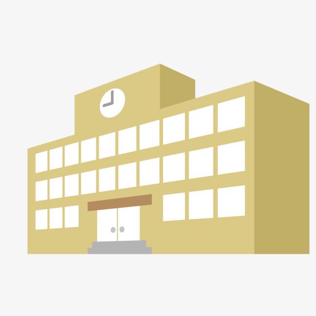 钟表图案的卡通大楼图片