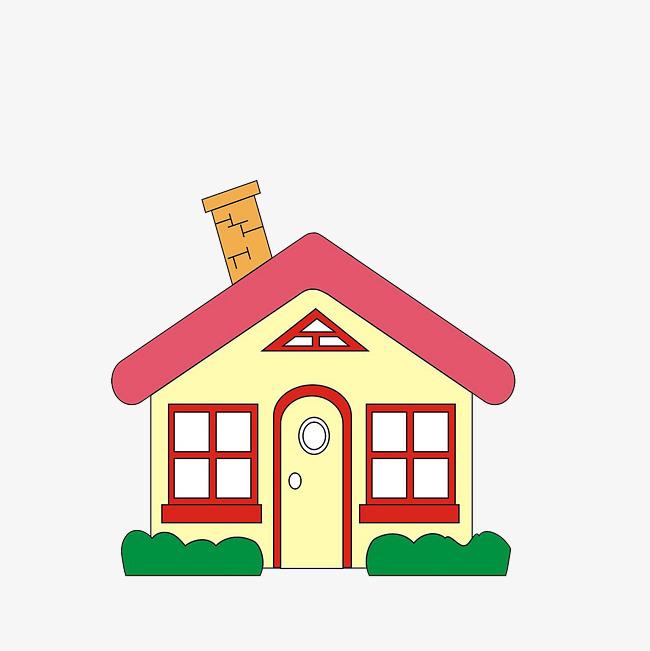卡通可爱空房子素材