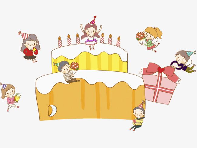 卡通创意生日蛋糕免抠图素材图片免费下载_高清png_千图片