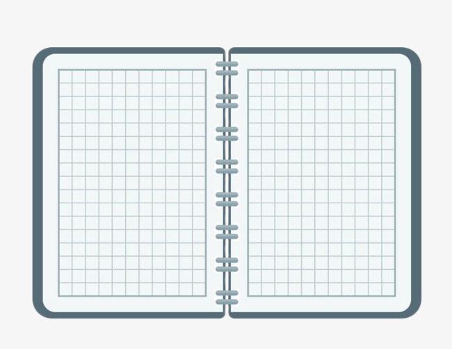 手绘几何格子活页笔记本