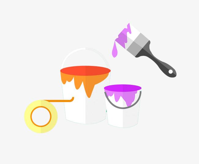 手绘扁平化油漆桶png素材下载_高清图片png格式(编号