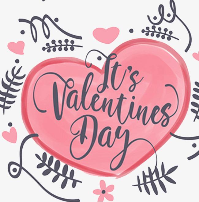 浪漫情人节手绘卡片设计