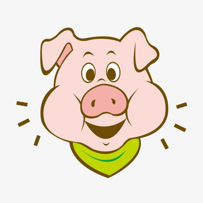 卡通可爱小动物装饰设计动物头像猪猪图片