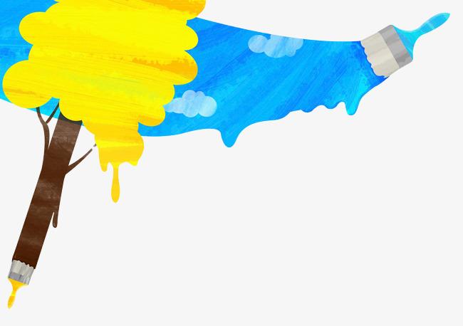 手绘彩色油漆涂料喷画