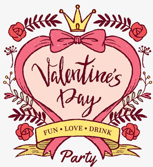 图片 装饰元素 > 【png】 情人节手绘卡通图案卡片设计