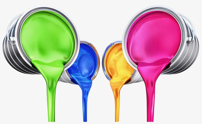 图片 装饰元素 > 【png】 手绘彩色油漆桶倒油漆
