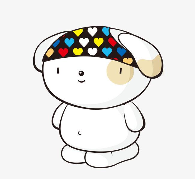 卡通可爱小动物装饰设计动物头像狗狗图片