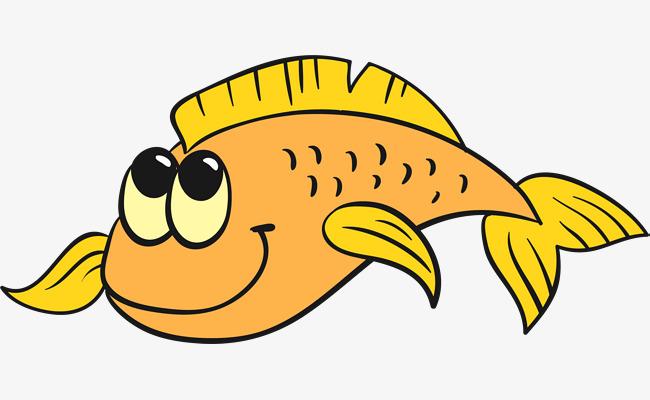 大眼睛手绘卡通风格深海鱼