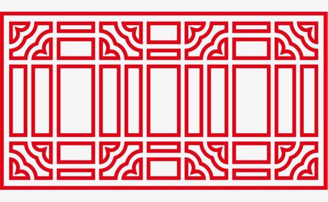 一套古典古风窗棂png素材下载_高清图片png格式(编号