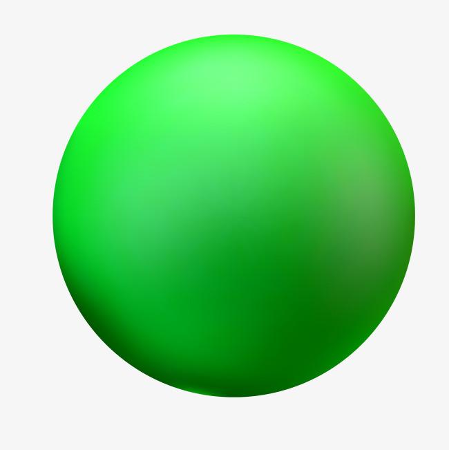 纯绿色圆形球体3d
