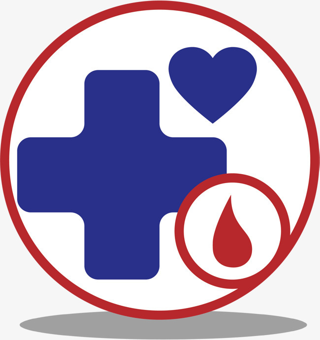 圆形的医药标志卡通