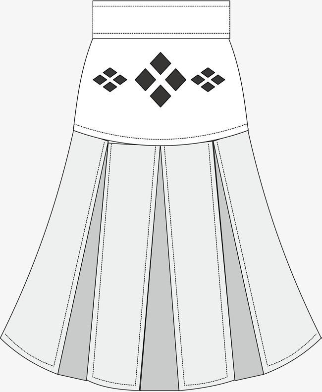 百褶裙创意设计图图片