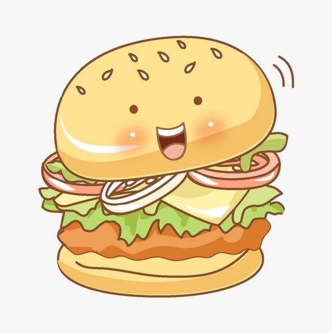 卡通可爱的汉堡免抠图png素材下载_高清图片png格式