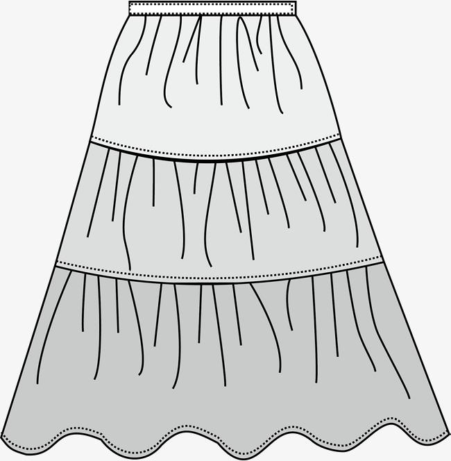 手绘短裙服装设计图_裙子款式设计图