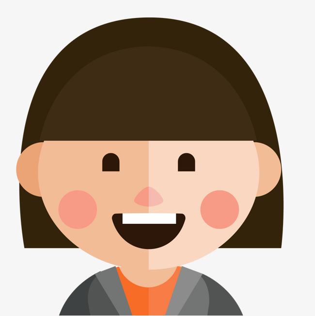 卡通微笑的商务人士头像图片