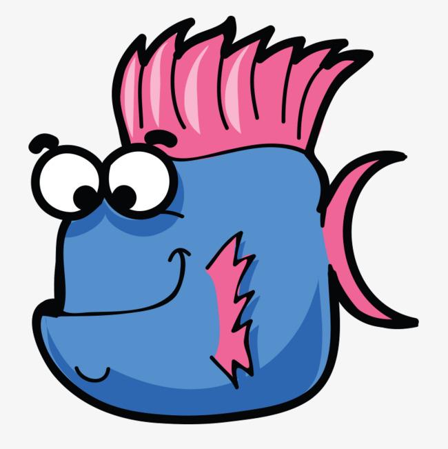 海洋鱼类超萌卡通手绘q版动物免抠下载图片