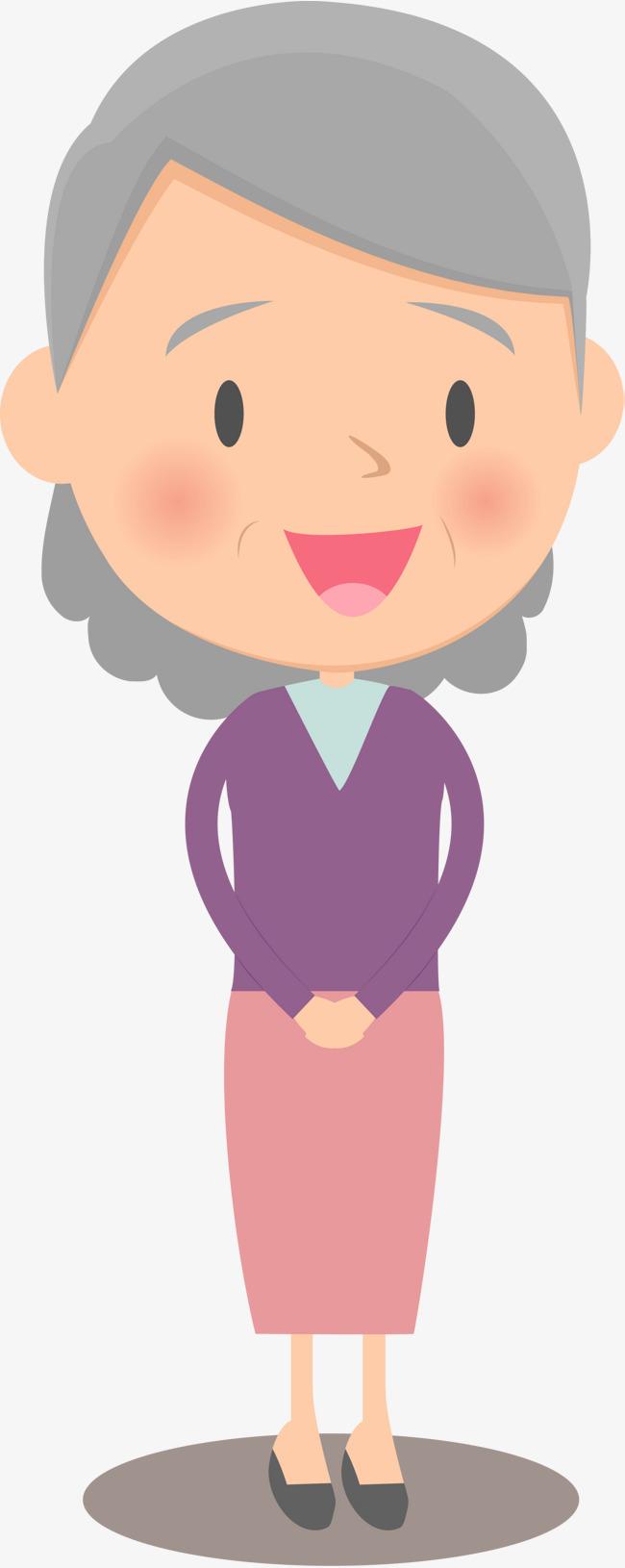 人物插画可爱老奶奶