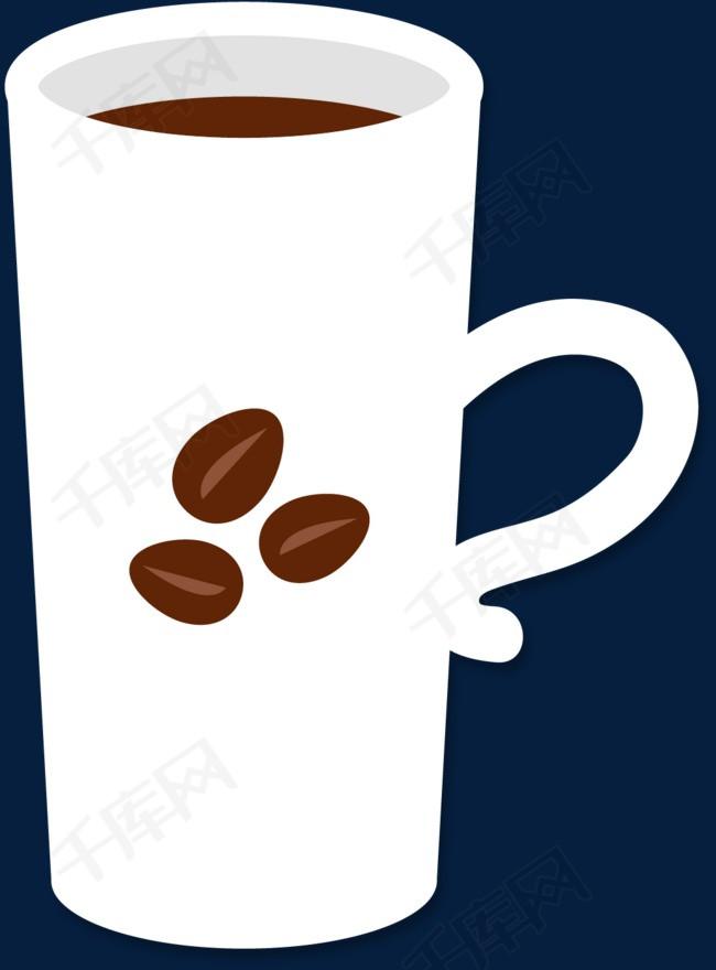 咖啡豆矢量马克杯素材图片免费下载_高清psd_千库网图片