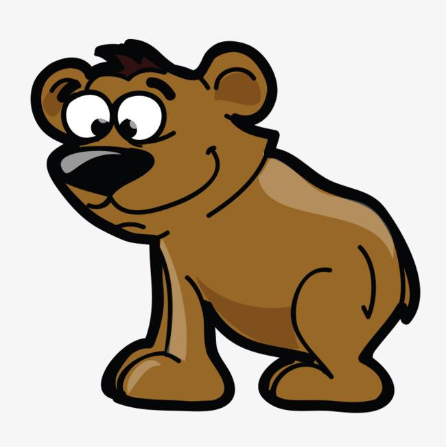 棕色森林动物卡通q版手绘高清免抠下载png素材下载