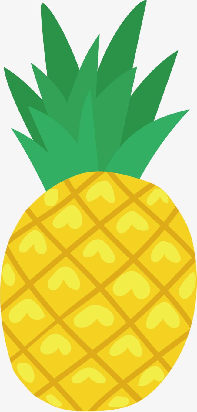 金色卡通手绘菠萝