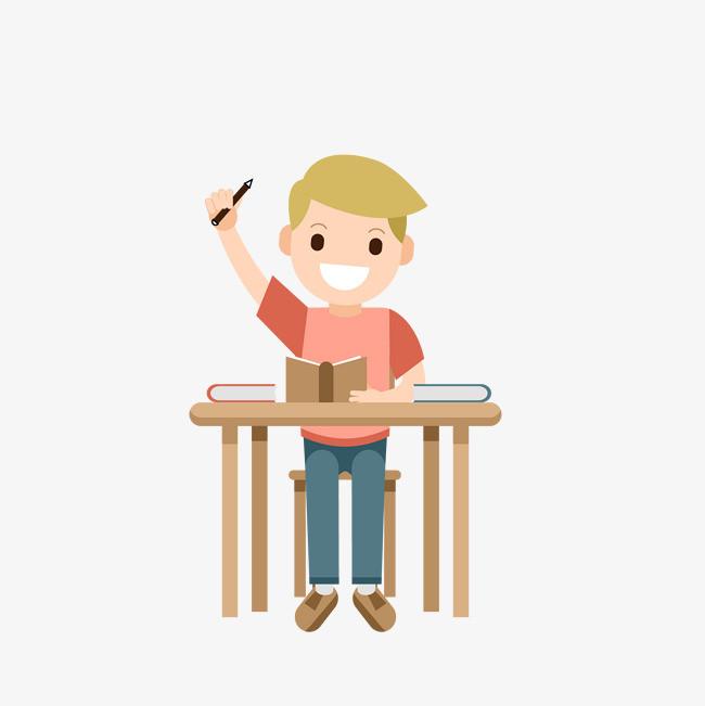 矢量手绘举手小男孩png素材下载_高清图片png格式(:)图片