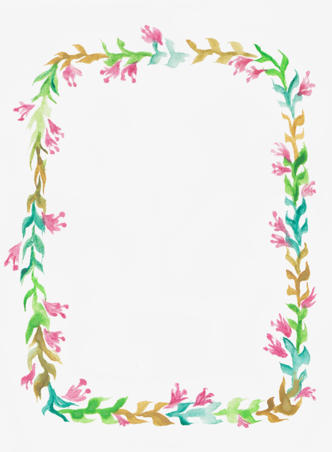卡通手绘花朵边框