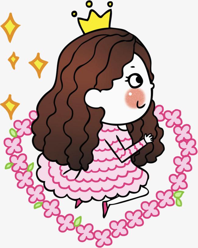 卡通可爱的女孩免抠图png素材下载_高清图片png格式