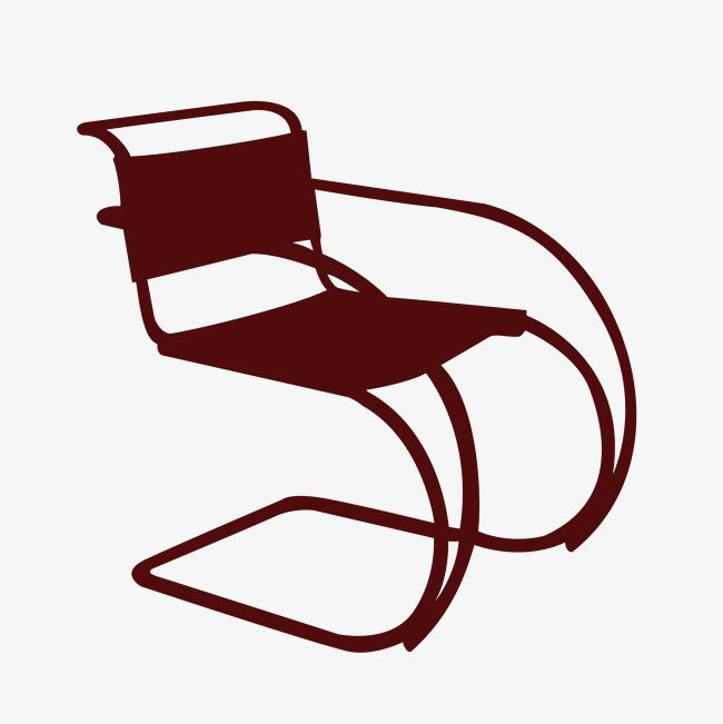 矢量手绘卡通创意椅子