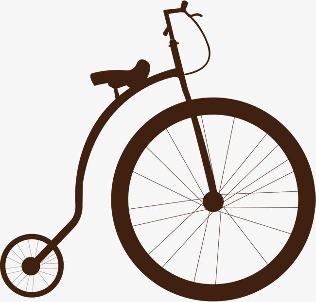 矢量手绘简单自行车