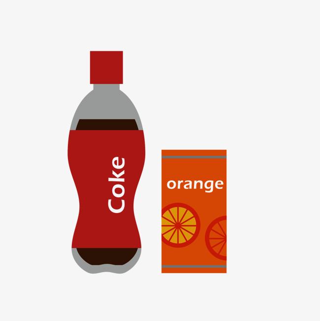橘子味可乐手绘图
