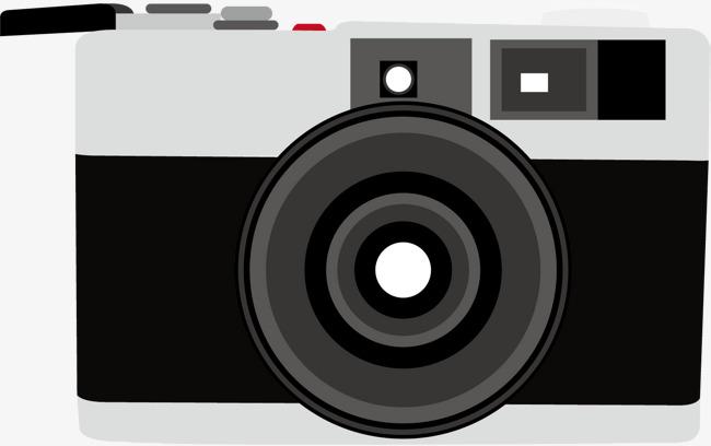 矢量手绘黑白相机