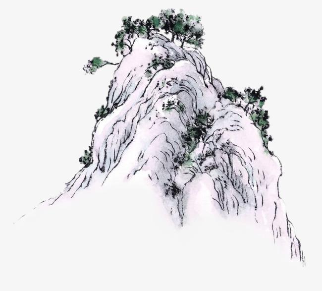 卡通手绘美丽的风景画