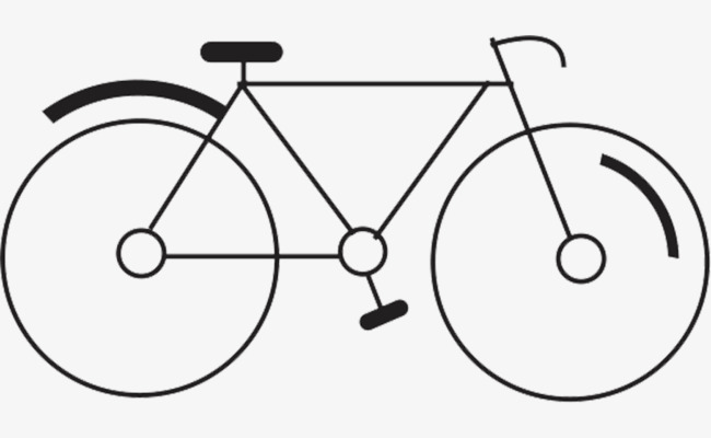 简笔自行车手绘图