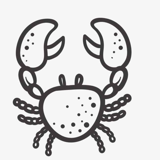 手绘卡通螃蟹简笔画