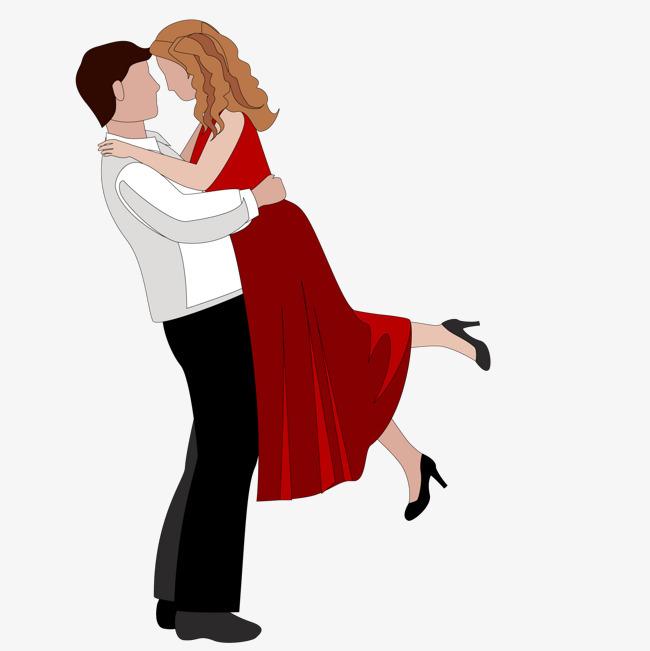 卡通情侣拥抱头像_卡通幸福拥抱的情侣