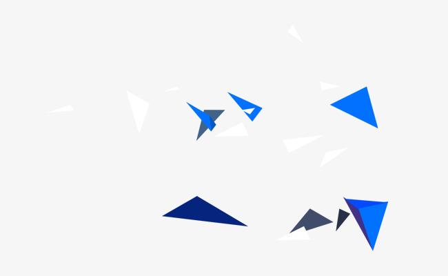 蓝白色的飞溅的三角碎片免抠图png素材下载_高清图片